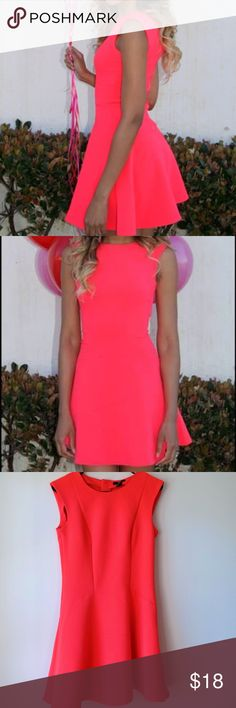 H&M HOT PINK SKATER DRESS Absolutely love this skater dress! Very stretchy! The back is cut out in a very flattering style and the color is gorgeous!!! Fits true to size. Size 8. Nearly New! H&M Dresses Mini