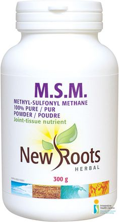 M.S.M. Methylsulfonylmethane 100% Pure (Powder) - 300 g M.S.M. is a central component of collagen and connective tissue, its sulfur assists the body in preventing inflammation, supports synovial fluid and facilitates repair of connective tissues.