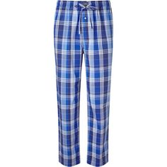 Polo Ralph Lauren Tampa Plaid Lounge Pants, Blue ($71) ❤ liked on Polyvore featuring pants, tartan pants, plaid trousers, blue pants, tartan trousers and blue trousers