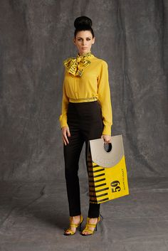 Moschino Pre-Fall 2015 - Collection - Gallery - Style.com Not a fan of the pussybow but that bag is a must