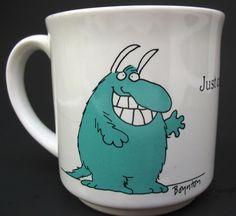Just Call Me Mr Personality Vintage Sandra Boynton Monster Coffee Mug Cup #RecycledPaperProducts #MrPersonalityMonster
