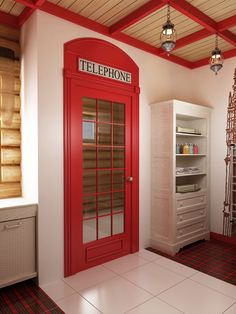 Ideas Diy Garden Furniture Home Improvements For 2019 London Phone Booth, British Decor, Diy Outdoor Kitchen, Diy Garden Furniture, Diy Home Improvement, New Room, Cheap Home Decor, Interior Design Living Room, Decoration