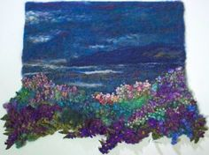 textile design - landscapes with embroidery - gezr pinakes - . textile design – landscapes with embroidery – pullr pinakes – Art Fibres Textiles, Textile Fiber Art, Textile Artists, Thread Painting, Fabric Painting, Fabric Art, Vintage Embroidery, Embroidery Art, Embroidery Materials