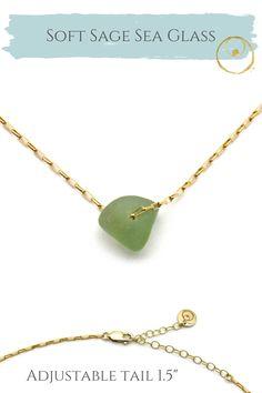 Genuine sea glass and gold necklace, handmade with love. Sea Glass Necklace, Sea Glass Jewelry, Arrow Necklace, Gold Necklace, Pendant Necklace, Jewelry Shop, Jewelry Making, Dainty Gold Jewelry, 14 Karat Gold