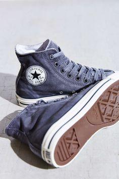 67c4df771a17b Converse Chuck Taylor All Star Washed High-Top Sneaker Converse Bleu  Marine