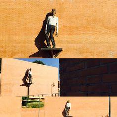 Stephan Balkenhol Moving Man Sculpture