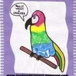 Colorful Footprint Parrot