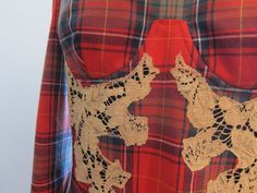 Tartan and lace bodice