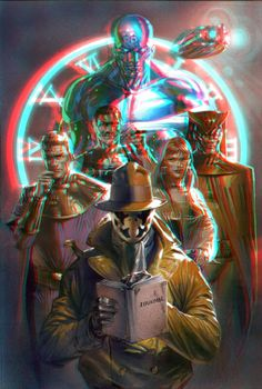 Watchmen in 3D Anaglyph