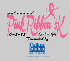 Pink Ribbon Run in Canton, GA on Sat. June 2, 2012. For more info visit http://www.fivestarntp.com/Pink_Ribbon_Run.html#