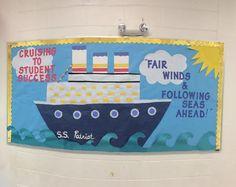 Cruise ship bulletin board