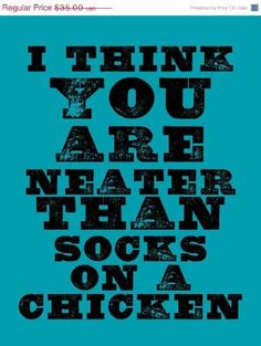 Yep, I'm looking at you, chicken socks. (I think you are neater than socks on a chicken. via inspiration) Chicken Quotes, Chicken Art, Chicken Signs, Chicken Feed, Gift Quotes, Me Quotes, Funny Quotes, Baby Quotes, Family Quotes