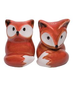 Loving this Fox Salt & Pepper Shakers on #zulily! #zulilyfinds