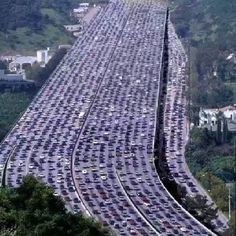 Beijing, China - world's longest traffic jam; 60 MILES long, lasted ELEVEN days!!!