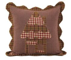 "Amazon.com: Gingerbread Block 10"" Quilted Holiday Christmas Pillow: Bedding & Bath"