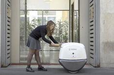 This self-driving delivery robot uses facial recognition to unlock the goodies