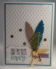 Stampin up four feathers card holiday catalog 2014 by Gloria Kremer washi tape