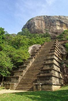 Stairway - (Yapahuwa Temple, Sri Lanka)
