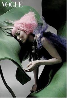 """A Thumb Princess"" | Model: Daul Kim, Photographer: Kim Jun Han, Vogue Korea, March 2006"