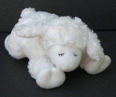 "9"" White WINKY BABY LAMB Rattle & Lovey BABY GUND 58133 Plush Toy"