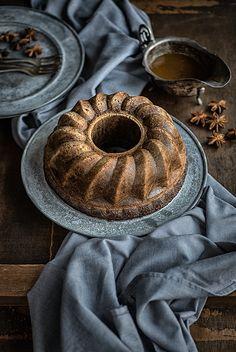 Gingerbread Bundt Bake with Toffee Sauce | supergolden bakes