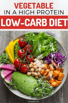 Vegetables in a high-protein low-carb diet. Let's find out. Low Carb Diets, High Protein Low Carb, High Protein Recipes, Protein Foods, Protein Cake, Protein Muffins, Protein Cookies, Healthy Food Choices, Healthy Dinner Recipes