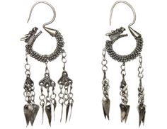 Dying for these! Antique Chinese Earrings Silver Dragons by PearlModern on Etsy, $325.00