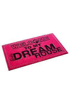 Greet Dreamhouse® guests with this fab Barbie outdoor welcome mat! Doormat.