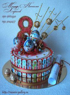 Gallery.ru / Фото #78 - Тортики из конфет - monier