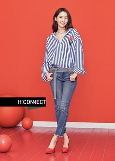 YoonA posed with 'H:CONNECT'!She's the model for the clothing brand, and they've just released her 2017 spring photoshoot. She stands brightl…