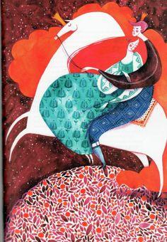 Mădălina Andronic 4 Unicorn Illustration, Portrait Illustration, Cute Illustration, Graphic Design Illustration, Matte Painting, Fabric Painting, Painting & Drawing, Mother Art, Inca