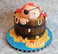 Pirate in a barrel cake!