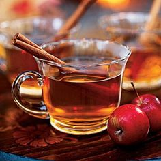 This hot spiced cider will make a delicious accompaniment for any Bonfire Night parties you may be hosting this weekend. For a non-alcoholic version, use a good cloudy apple juice instead of cider, omit the sugar - and leave out the rum. Hot Spiced Cider, Hot Apple Cider, Apple Juice, Spiked Cider, Apple Tea, Bonfire Night Food, Spooky Food, Weight Loss Smoothies, Tea Time
