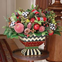 MacKenzie-Childs - Courtly Christmas Centerpiece