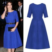 a96212d98f72a0 Saloni Martine Cobalt Blue Dress - Kate Middleton Dresses