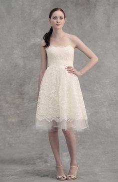 Jenny Yoo Kurz Hochzeitskleid