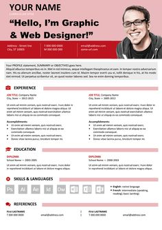 Hongdae Is A Free Modern Resume Template OnePage Clean With