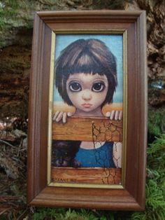 I used to have this painting.  It was always my favorite.  Margaret Keane Big Eye Framed Mini Print
