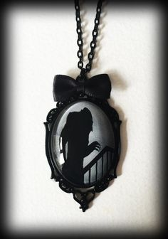 Nosferatu Glass Cameo Necklace - Gothic - Count Orlok - Vampire - Hammer House of Horror by WhisperToTheMoon on Etsy Gothic Jewelry, Gothic Necklaces, Small Necklace, Horror House, Cameo Necklace, Grey Glass, Women Jewelry, Fashion Jewelry, Gifts For Her