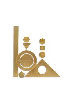 TOM DIXON - Tool the Mathematician ruler set   Stationery & Books Lifestyle   Home & Lifestyle   Lane Crawford