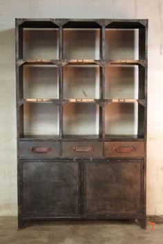 1000 images about industrial furniture on pinterest vintage industrial metal cabinets and. Black Bedroom Furniture Sets. Home Design Ideas