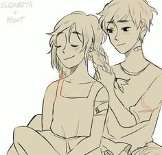 Newt y Lizzy. Lie down, try not to cry. Cry a lot