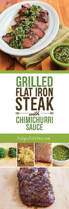 grilled flat iron steak with chimichurri sauce grilled flat iron steak ...