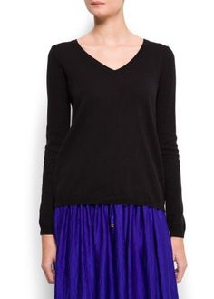 Mango Women's V-Neck Sweater - Aro 8 MANGO. $19.99