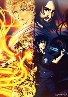 Some incredible fanart of Solangelo and their fathers | Nico di Angelo and Will Solace | Apollo and Hades | by brunagonda