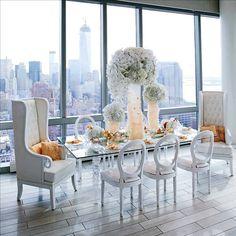 Peach and White Wedding Style Decor