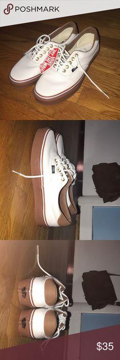 Vans Never worn white vans Vans Shoes Sneakers