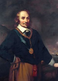 Dutch admiral Maarten Tromp commanded the Dutch navy. In a naval engagement entitled the Battle of the Downs, which took place off the coast of England in the Spanish were decisively defeated by the Dutch navy. Anglo Dutch Wars, Holland, Man Of War, Dutch Golden Age, Navy Ships, Portraits, Art Uk, Trends, 17th Century
