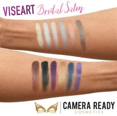 Viseart's New Pearl Eyeshadow Palette has 12 smooth, pearlescent shadows in the perfect collection of brights and neutrals for any eye color. Eye Color, Color Pop, Makeup Artist Kit, Beautiful Eyes, Makeup Cosmetics, Eyeshadow Palette, Swatch, Eyeliner, Blues