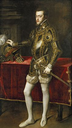 Philip Of Spain. It is said that Queen Mary I fell deeply in love with him even though only having his portrait.